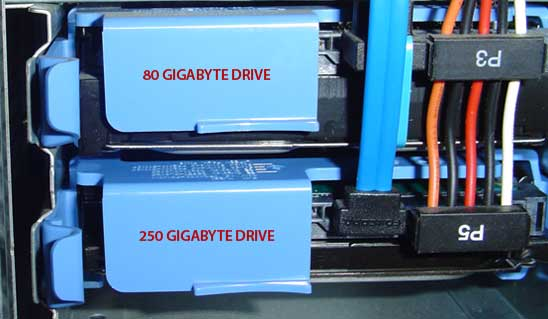 A 250 Gigabyte Drive is Installed
